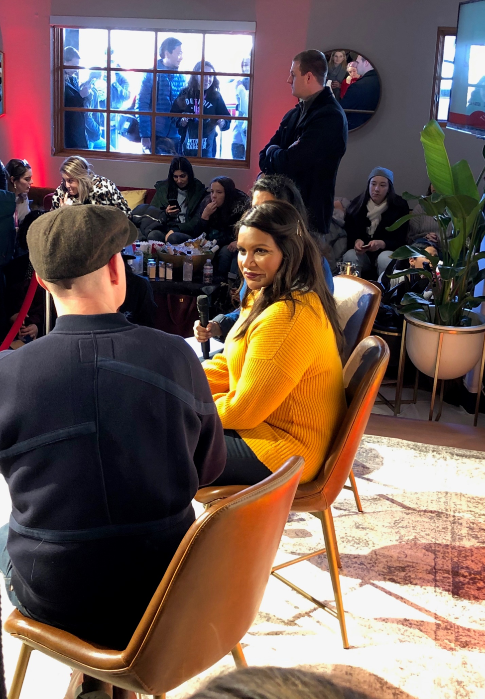 Mindy Kaling leads the panel at the Q&A discussion of her new movie,  Late Night,  in a Saturday afternoon session at the Stella Artois house in Park City.