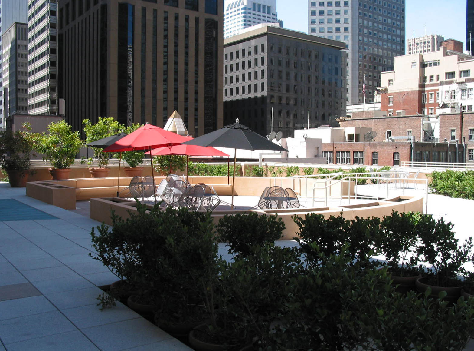 The roof deck at 275 Sacramento