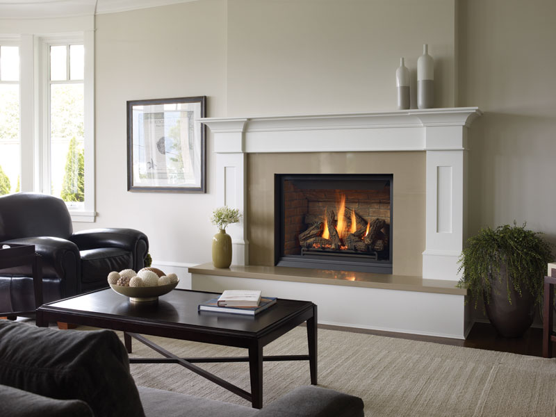 Regency Bellavista    View Full Specs   The flush-fit design of the Regency Bellavista™ B36XTCE gas fireplace permits surround finish materials to be installed right to edges for a clean, unadorned appearance.