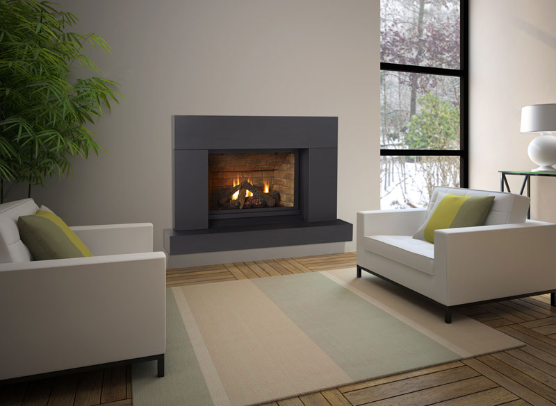 Regency Panorama P33    View Full Specs   True flush finishing and a louverless front face provide an unobstructed view of the fire in Regency's new Panorama™ P33CE gas fireplace. A true focal point in small to medium-sized spaces.