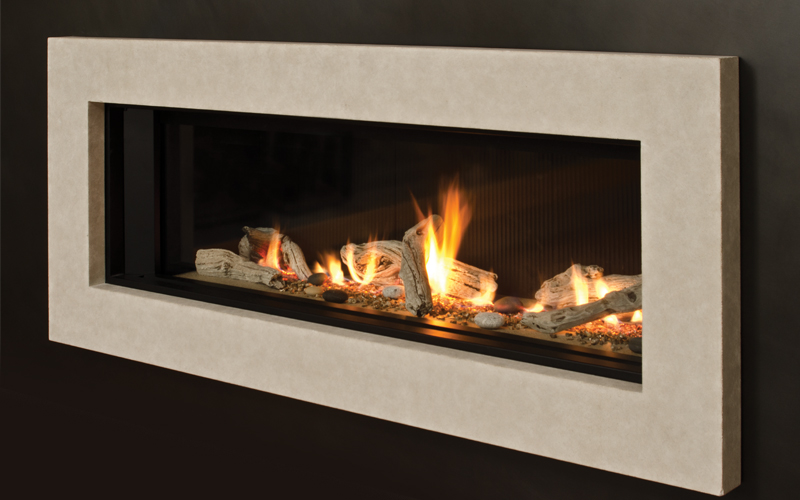 "L2 Linear Series    View Full Specs   The L2 is luxury fireplace design at its finest. Inspired by the highly successful L1 series, the L2 boasts an impressive 50"" linear viewing area that highlights magnificent flames within."