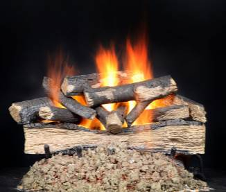 "Heatilator ""Versawood""    View Full Specs   Realistically-detailed logs with the appeal of a fully charred, mature fire.Remote Ready. Hearth kit/burner sold separately."