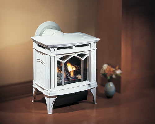 Regency Hampton H15    View Full Specs   Compact Elegance. Even your smaller living areas can be transformed with the timeless beauty of durable cast iron Small Hampton Gas Stove. The 18,000 BTU of high efficiency heat can be turned down a full 50% so that you can enjoy the beautiful glow without all the heat.