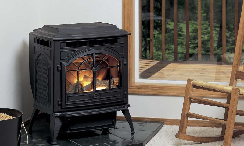 Quadra-Fire Castile    View Full Specs   The Castile offers patented automatic ignition and jam-free feed systems, an exclusive aluminum heat exchanger, and a revolutionary easy clean firepot.