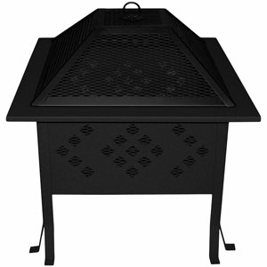 Buck Stove Square Firepit   Perfect for outdoor gatherings of family and friends or just relaxing alone outside, enjoying nature. The Model SDFP18 is hand crafted from high quality cold-rolled steel and powder coated with a high-temperature paint to provide many seasons of enjoyment.