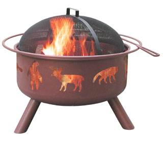 Big Sky Firepit   This style firepit is available in several cut out designs - stop by the showroom to view our catalog.