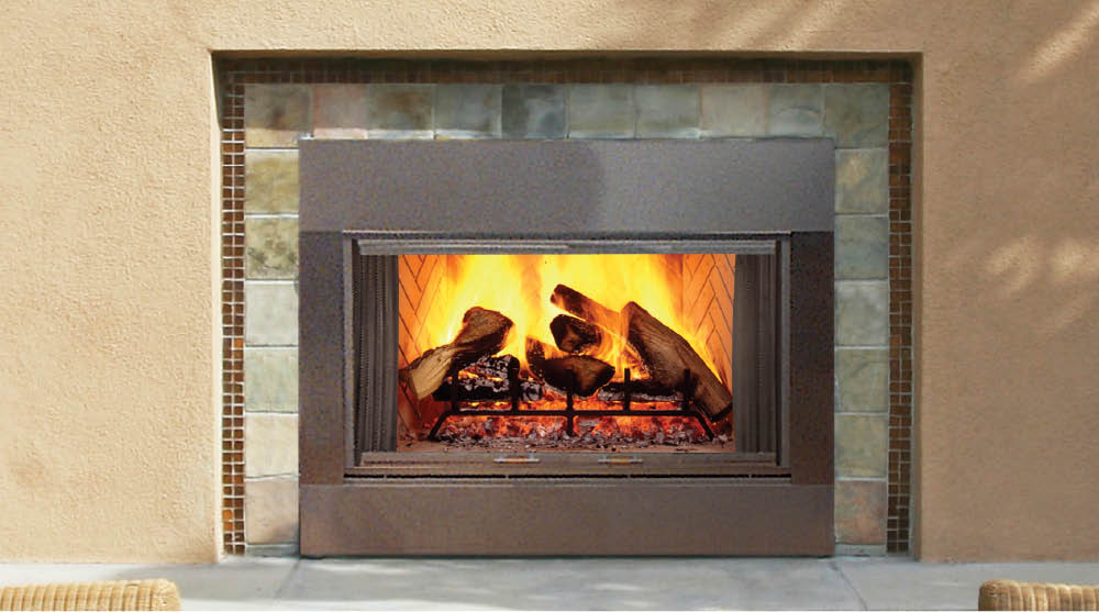 Majestic SB Series    View Full Specs   This versatile fireplace is suitable for indoor or outdoor installation' wood burning or gas conversion. Its stainless steel construction and herringbone refractory brick lining add a striking accent to any space.