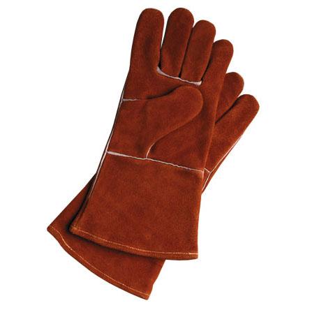 Leather Gloves   Short or long, black 0r orange.