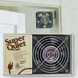 Circulating Fan   Mount in a doorway and transfer heat to an adjoining room.