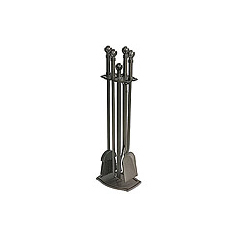 """30"""" Ball & Claw Tools   Designer tools in burnished black finish - matching log holder & screen available."""