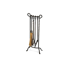 """31"""" Bowed Tools   Designer tools displayed in a soldiered row - vintage iron or burnished bronze finish."""