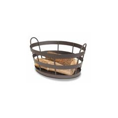 Shaker Log Bin   Available in bronze or graphite finish.