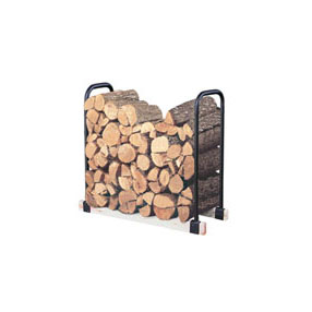 Adjustable Log Rack   Heavy duty steel, you provide 2x4's at desired length.