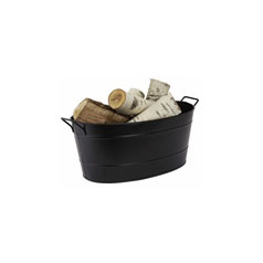Oval Steel Tub   Available in black, galvanized or copper.