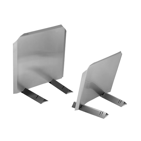 Stainless Steel Fireback   Help reflect your fire's heat into the room.