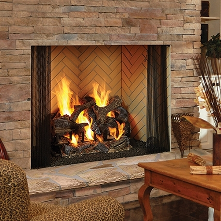Heatilator Birmingham    View Full Specs   The Birmingham masonry-style woodburning fireplace offers a masonry fireplace appearance at a fraction of the cost of a site-built masonry fireplace. The Birmingham is designed with molded brick panels in traditional or herringbone brick that reflect a true firebrick color and size.