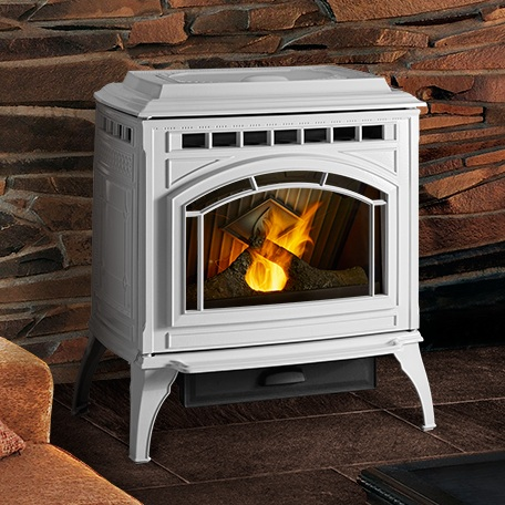 Quadra-Fire Trekker    View Full Specs   The new Trekker pellet stove with Efficient Energy (E2) technology is the most powerful and efficient pellet stove ever designed by Quadra-Fire. E2 technology helps achieve 83.2% efficiency—saving money by burning less fuel.