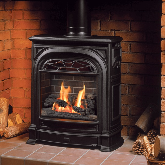 """Valor President Gas Insert    View Full Specs   The President Zero Clearance is ideal for building into those smaller intimate spaces, requiring only 11"""" depth and 26"""" width."""