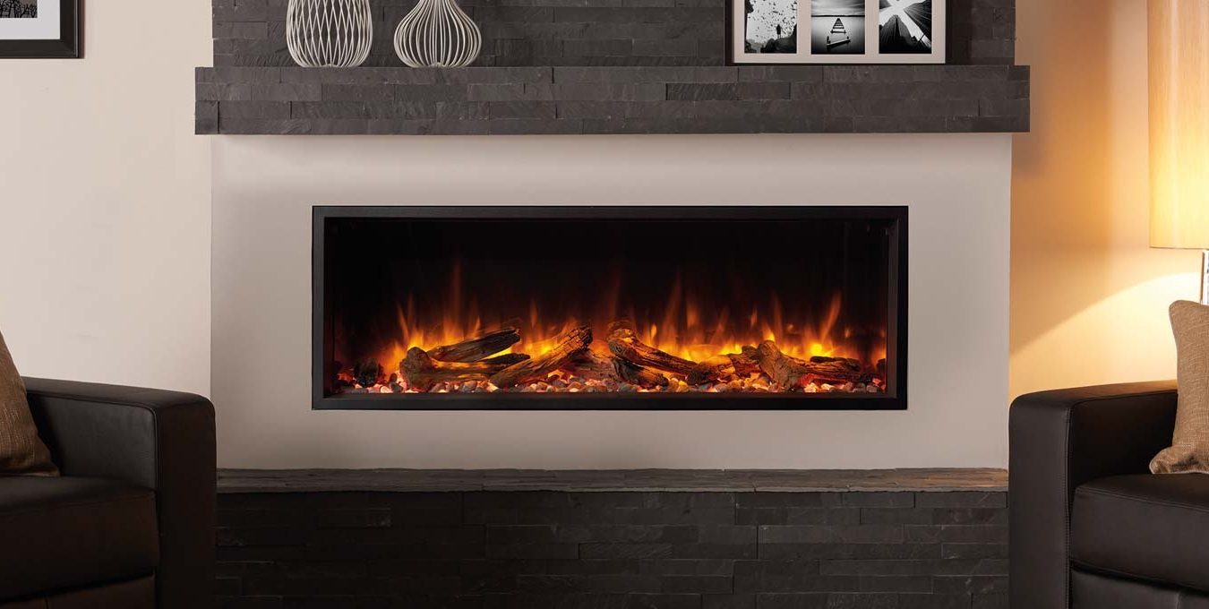 Regency Skope E195    View Full Specs   Regency Skope's single-sided fireplace creates minimalist wall installation for a clean and contemporary, built-in aesthetic. Featuring Skope's powerful Chromalight Immersive LED technology, assortment of feature fuel effects, and advanced remote you can control the look from anywhere in the room.
