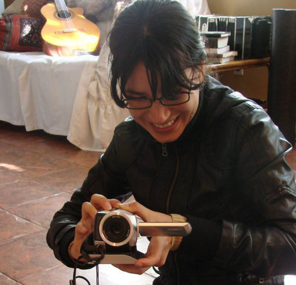 """Tamara filming """"Before the War"""""""