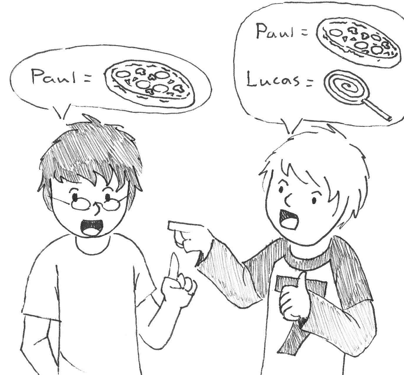 Paul, the author on the left, with his son Lucas, the illustrator, on the right