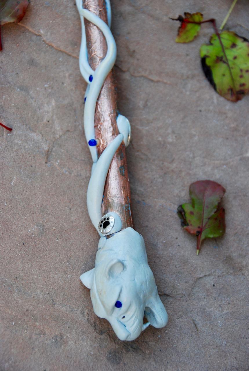 Real Magick Tiger Wand (detail)