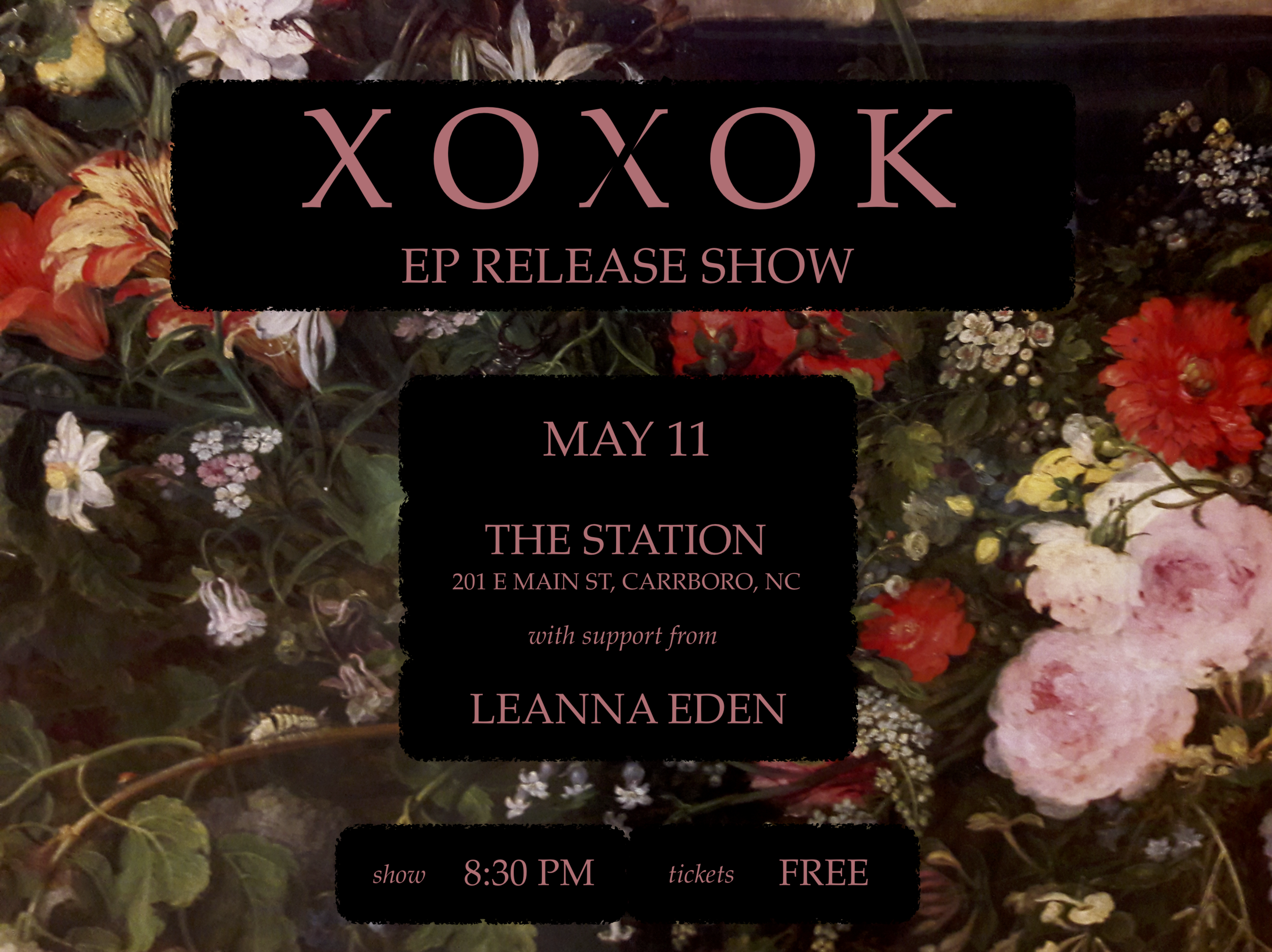 XOXOK flyer for release show 4.3.19.png