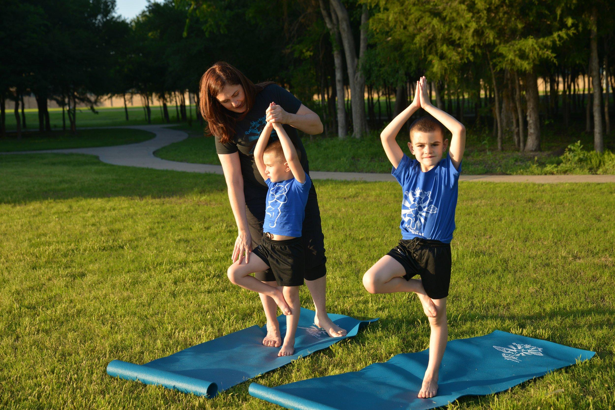 Owner/Instructor ~ Karina Marino & her little Yogis
