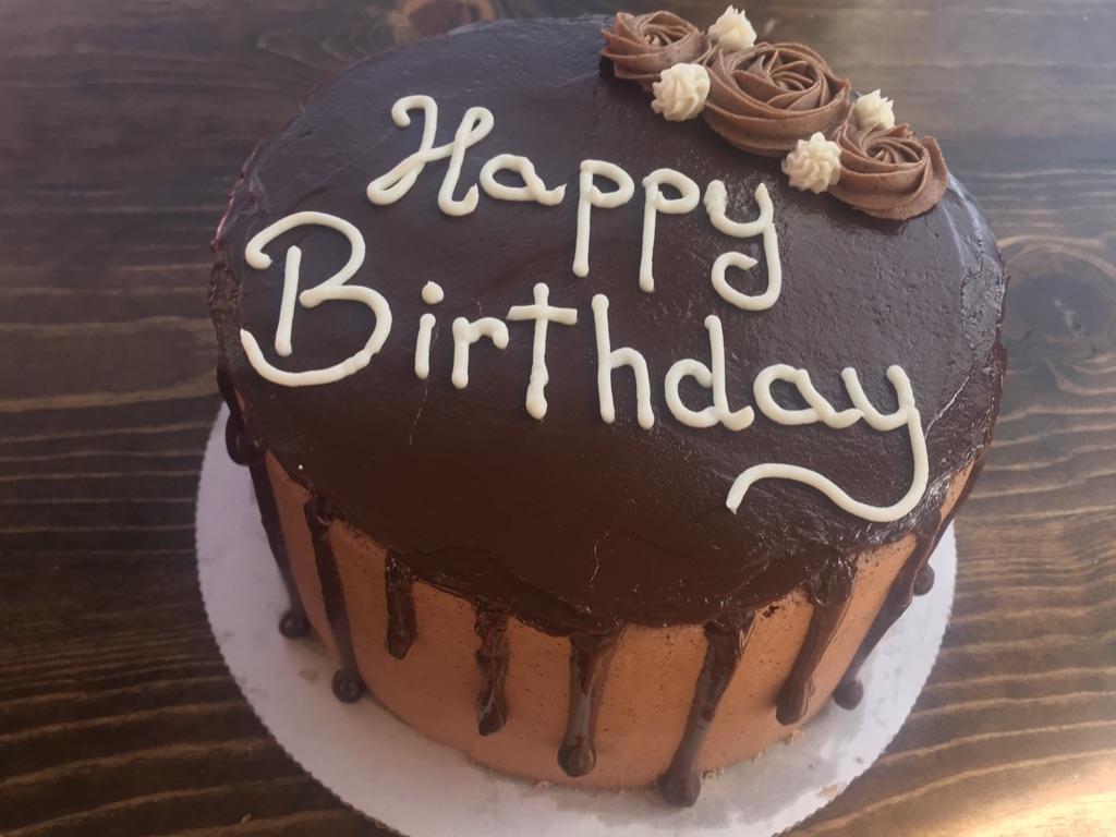 Mocha Chocolate Cake with Dark Chocolate Ganache