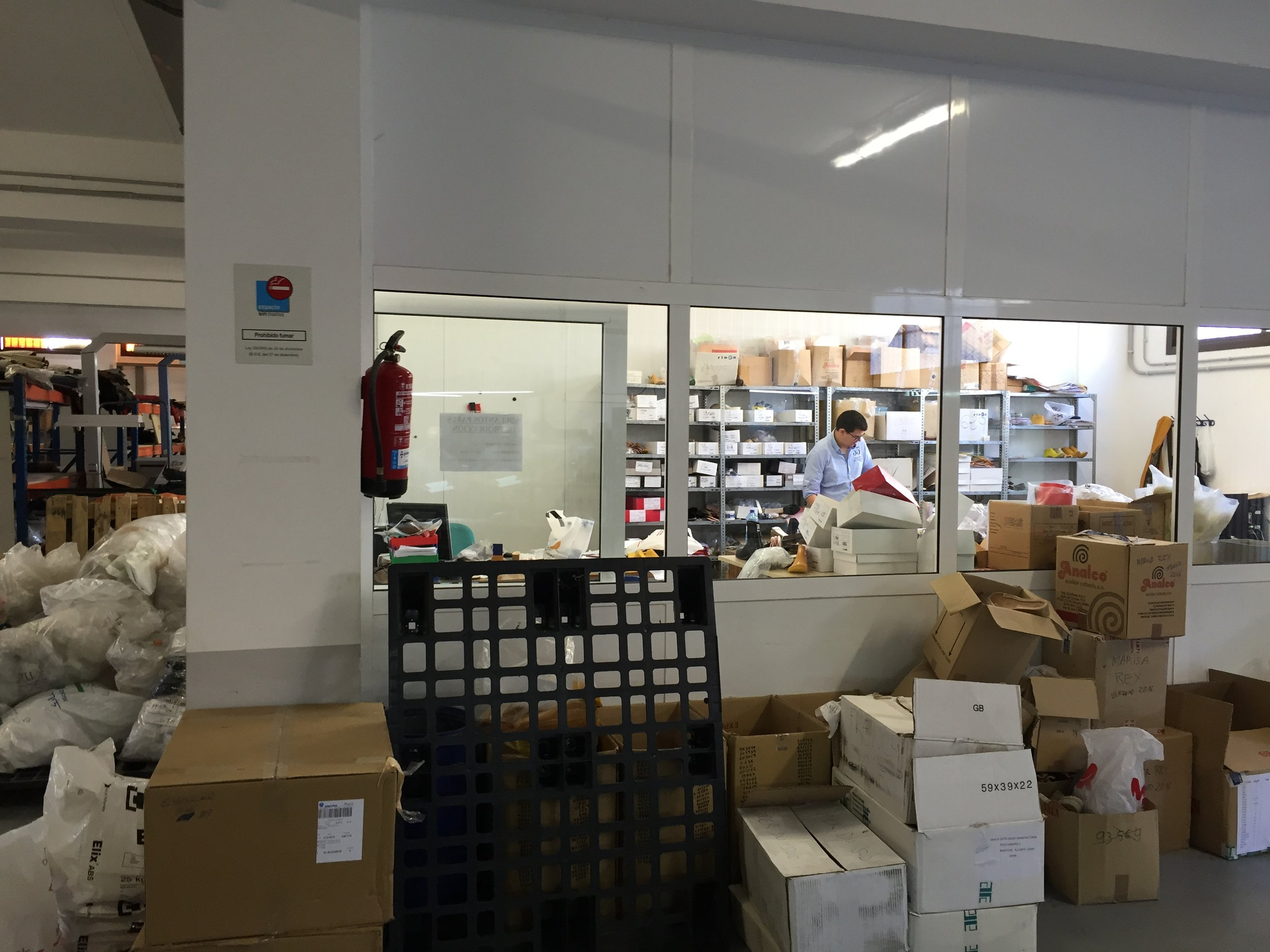 The sample room in Spain