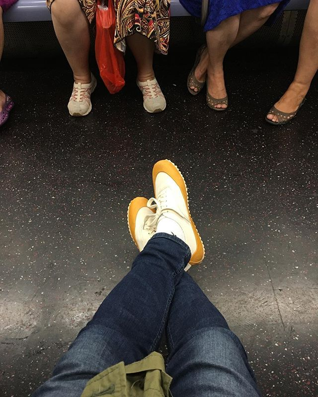 #goingoodshoes and go in #northseaclothing for whatever weather 👍 on the uptown N train