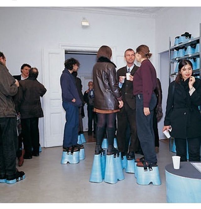 Same Height Party by Hans Hemmert, 1997 ...we would all be at eye to eye level, too?!
