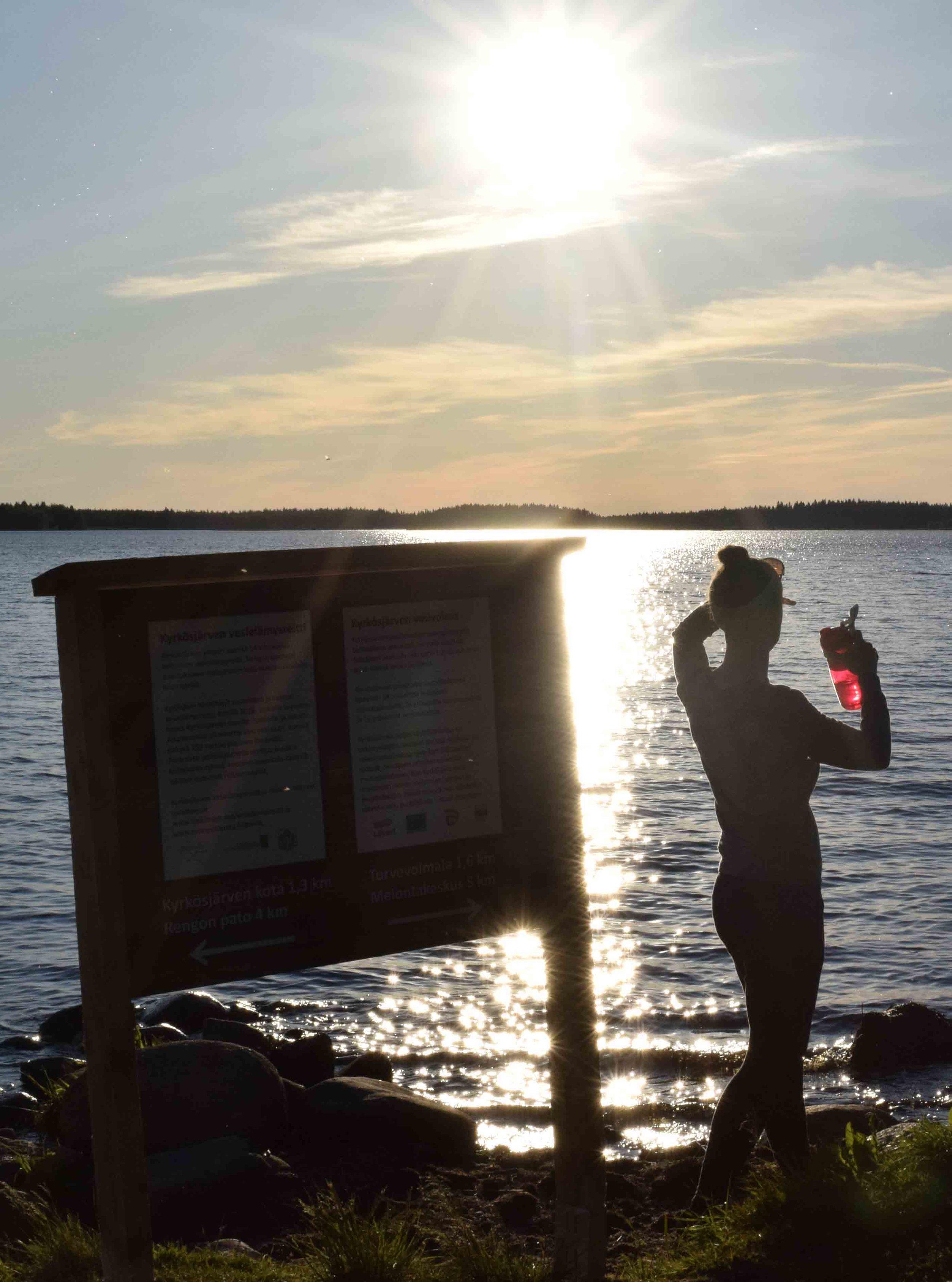 Hamarin uimaranta ja Marjo.jpg