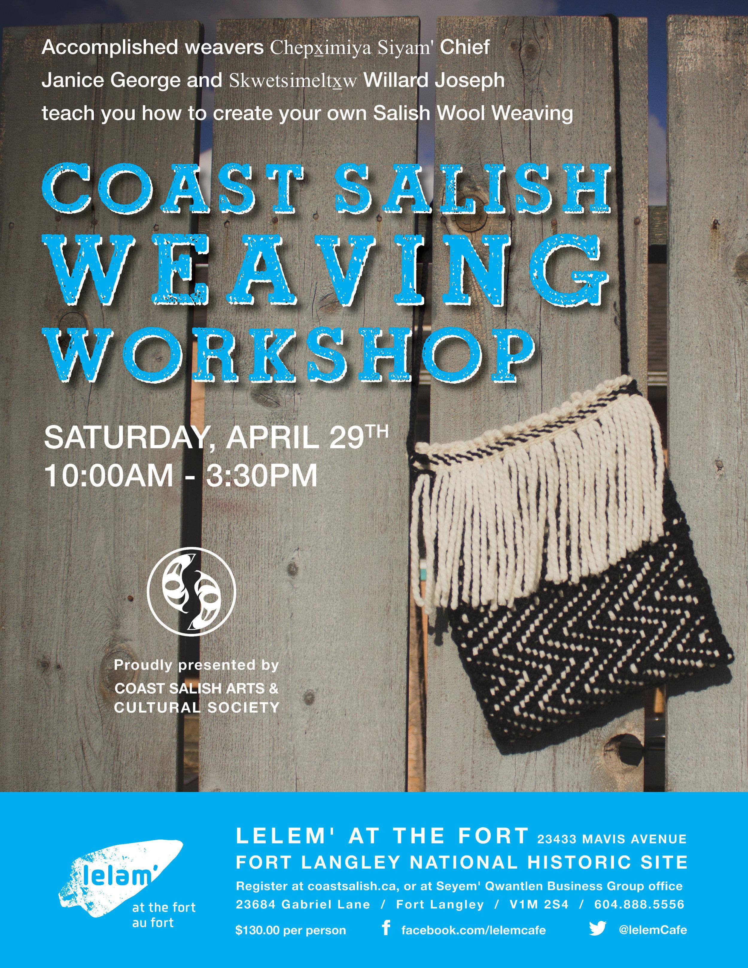 2017-03-02 Chief Janice Weaving Workshop Poster DRAFT.jpg