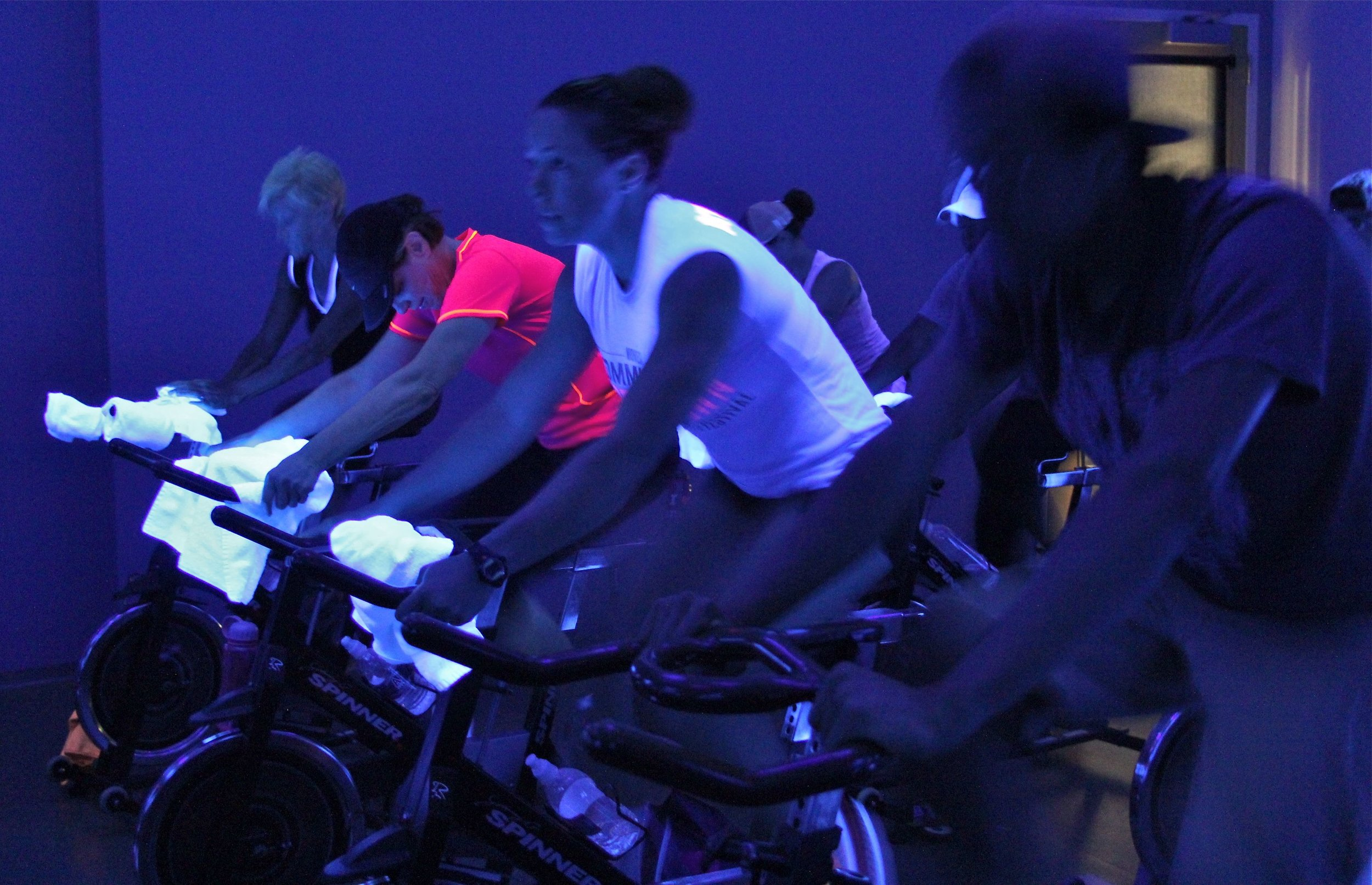 AN ACTUAL SHOT FROM MY SPIN CLASS. PHOTO CRED: DAVID ALESHIRE