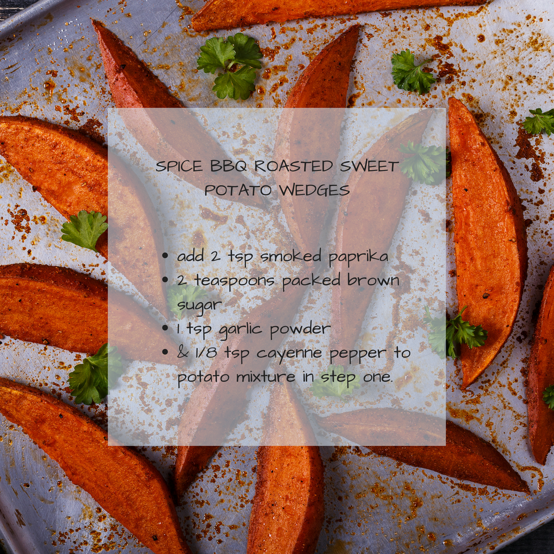 spice bbq roasted sweet potato wedges