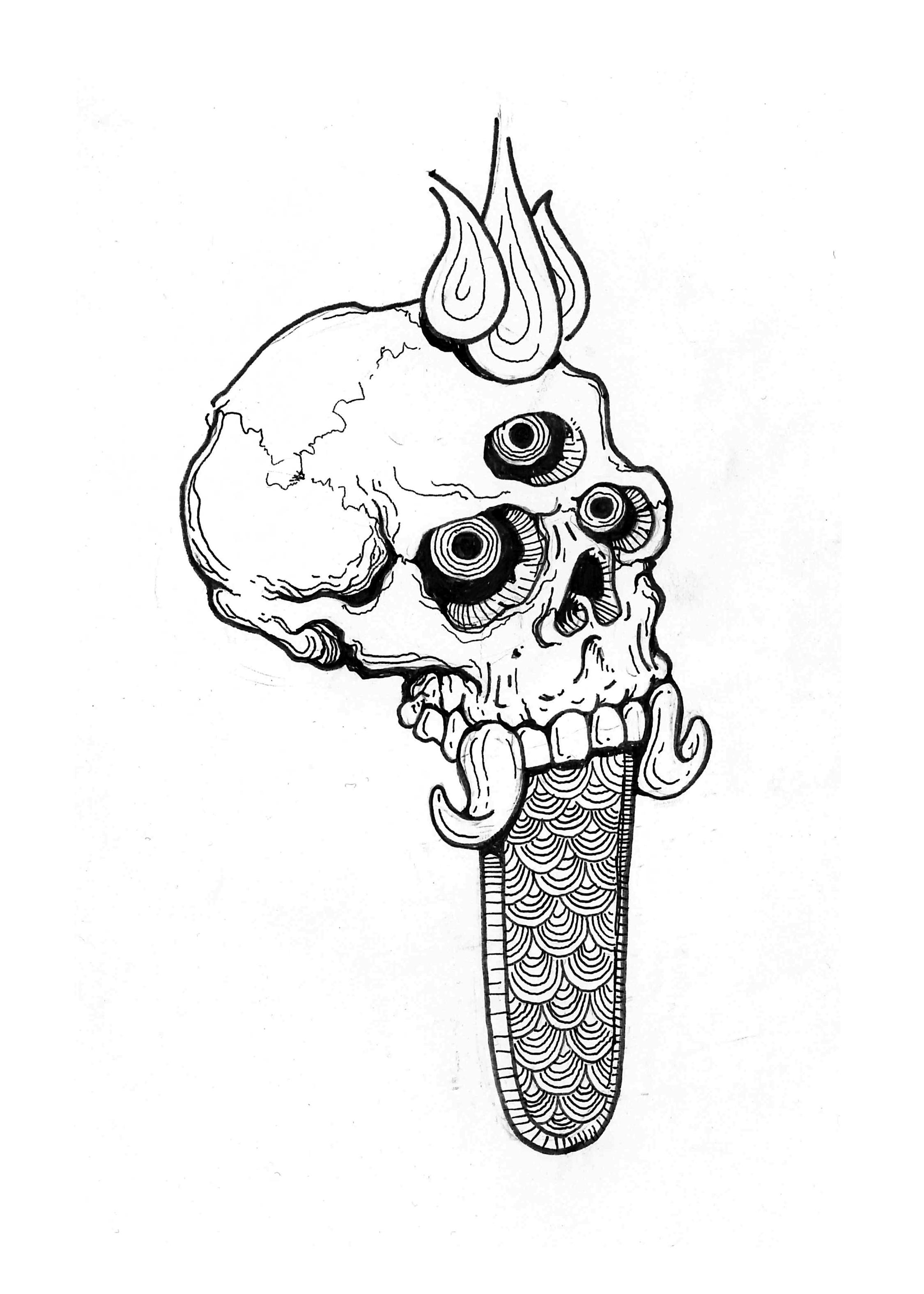 Rangda Skull