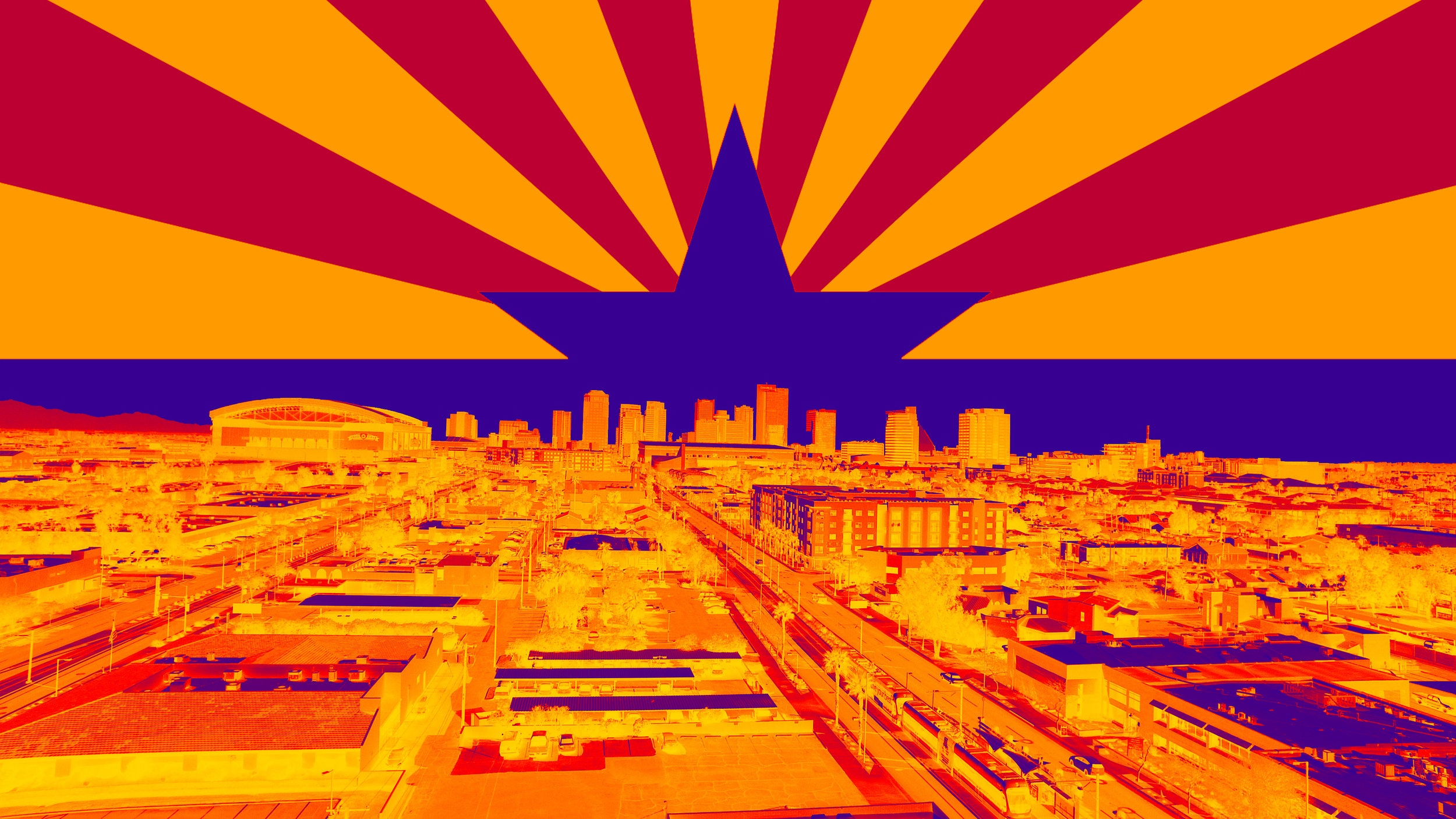 Downtown Phoenix w AZ Flag.jpg