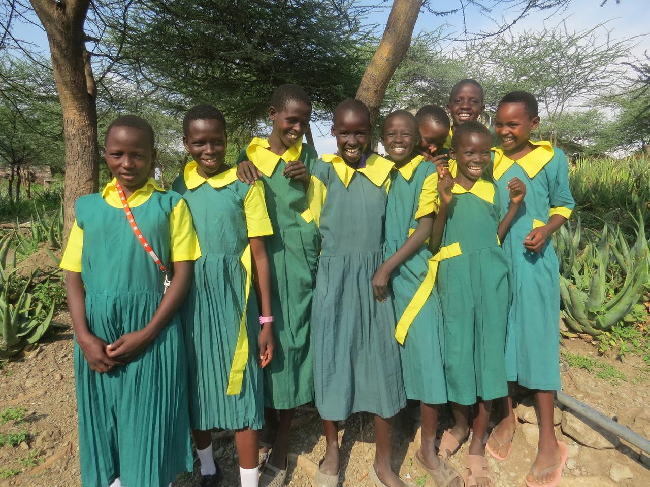 Students outside their classroom at Kokwa Primary