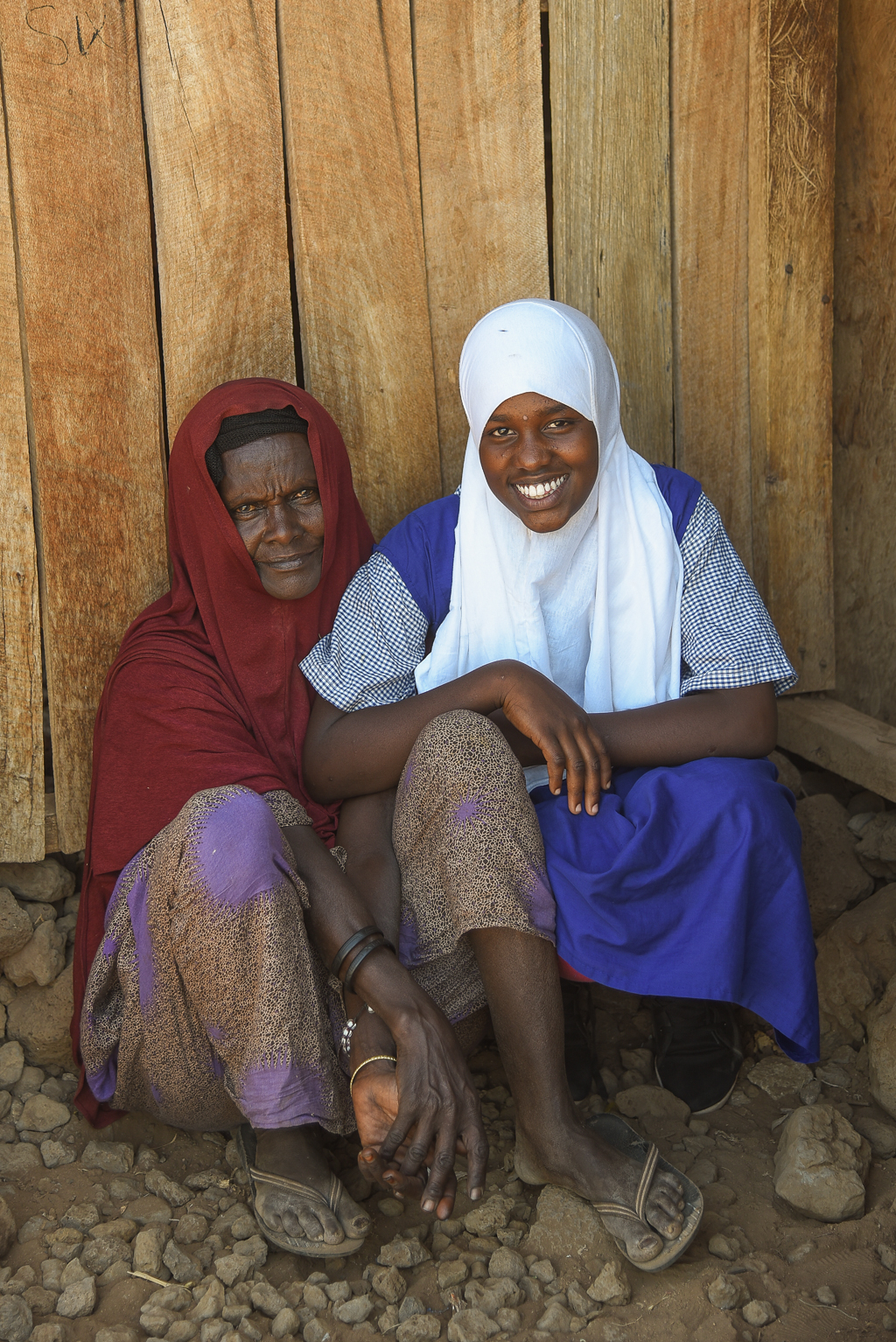 Fartusa Abdi and her mother