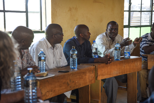 Medical officers meet at Kachiuru in January to plan for the dispensary opening