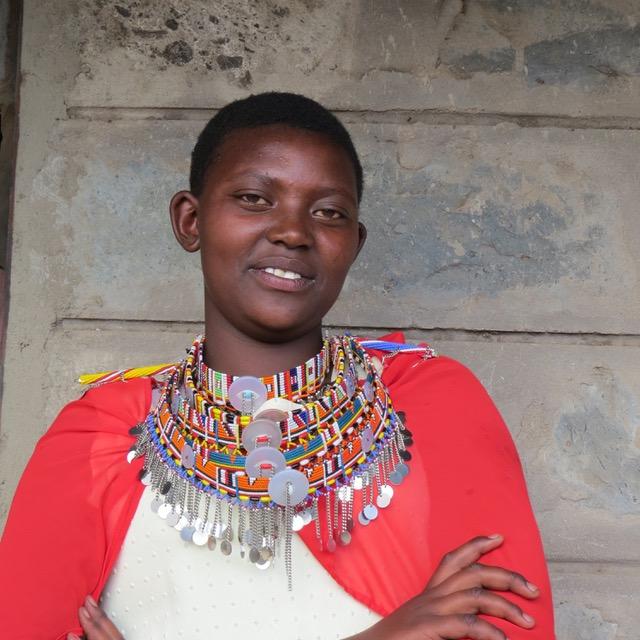 Endonyio Sidai Scholarship student Diana Kipaliash in 2015