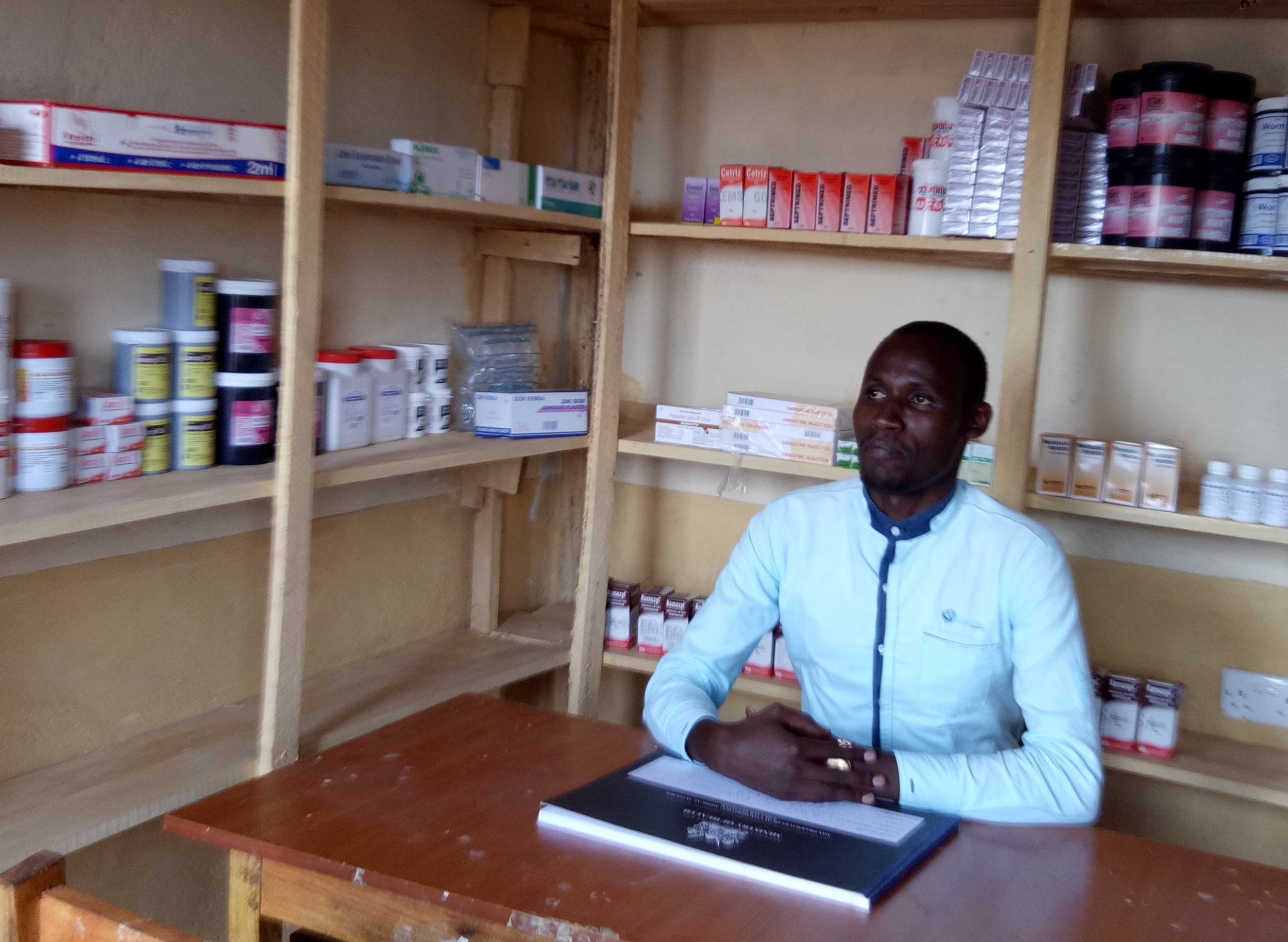The Clinical Officer in his pharmacy