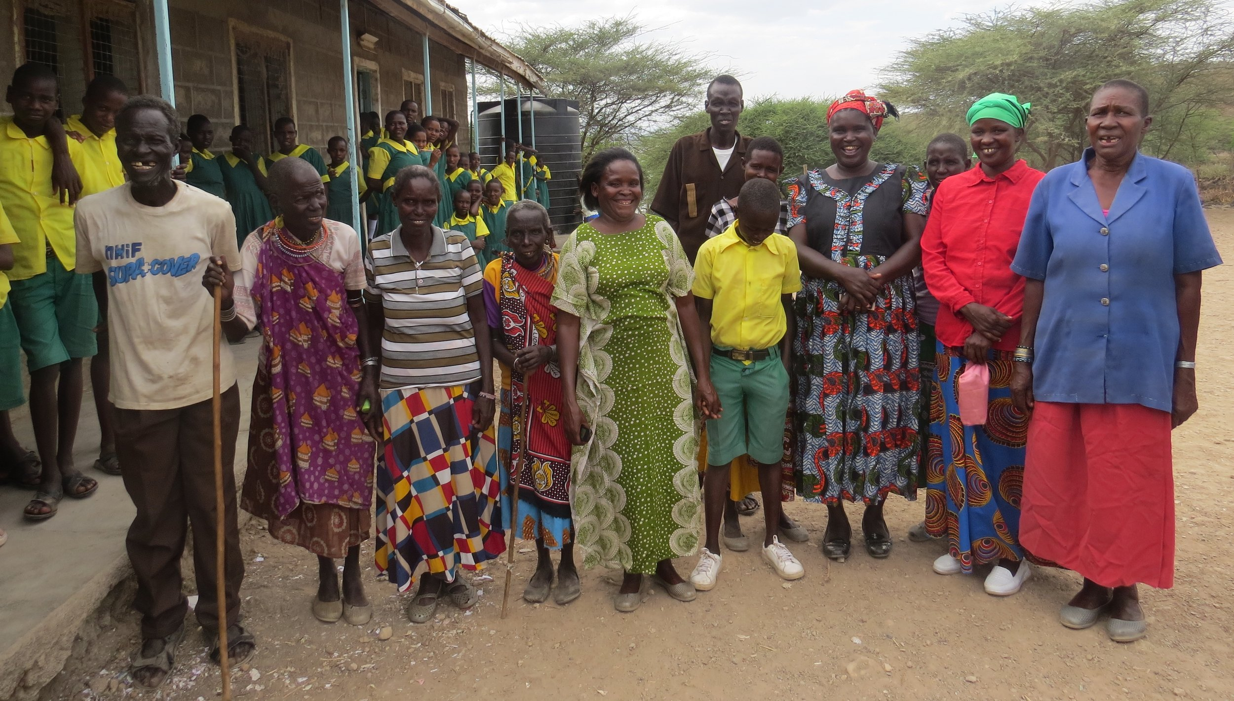 January 2019 at Lake Baringo - Kokwa Primary School - parents of students who received primary school scholarships in January, 2019