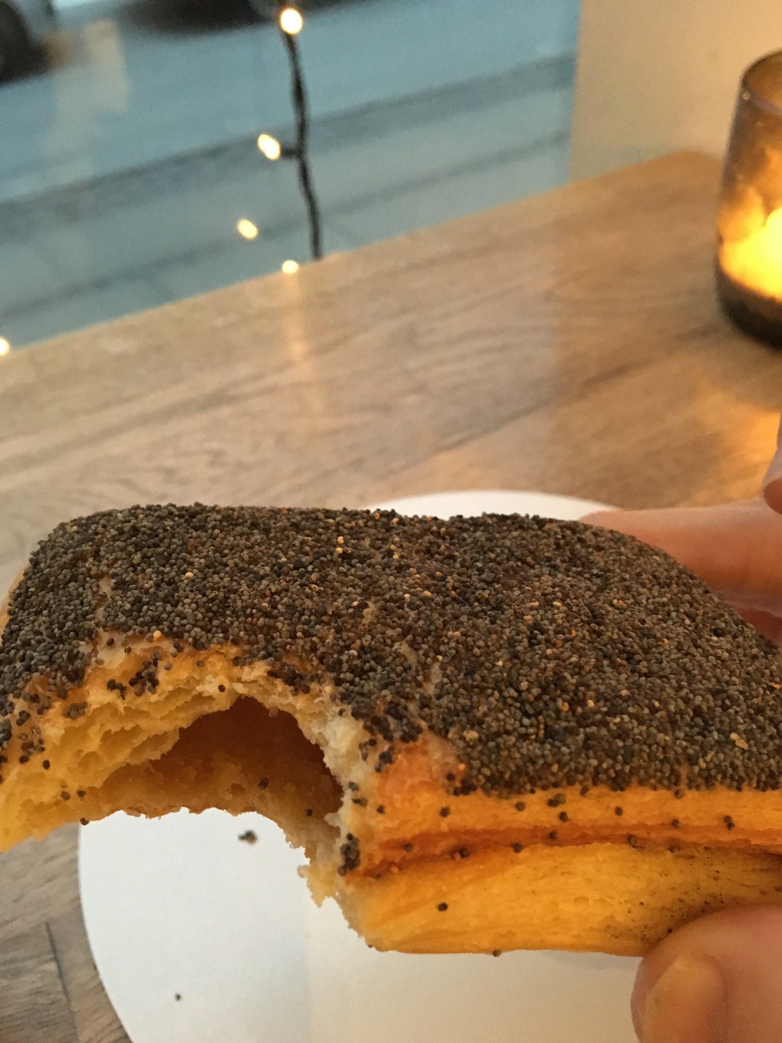 "unrelated pic of my favorite danish pastry, the beloved & missed ""te birkes  """