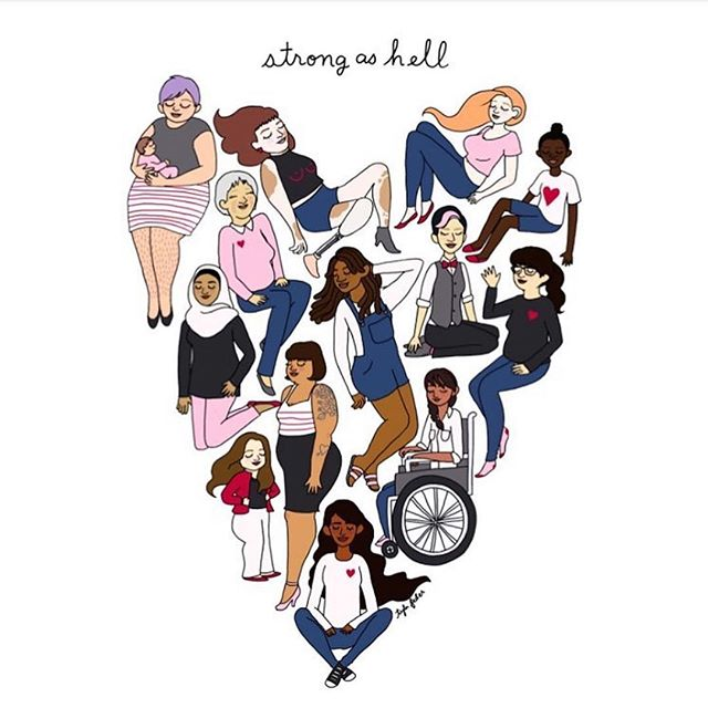 Quick reminder: we got this. Tag your rock 💪🙏 Found on @theoutrageonline, art by @tylerfeder  #strongashell #womxnarepowerful #wegotthis #loveispower