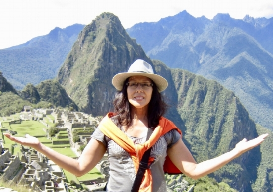 At the head of the Inca Trail to the Sun Gate, Machu Picchu, Peru