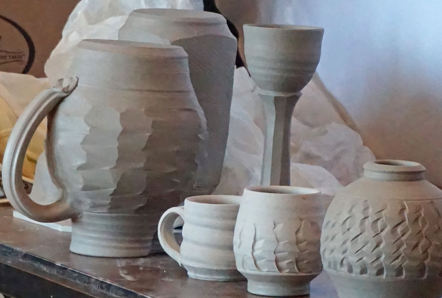Functional Clay 2016 - Cynthia Bringle's carved work