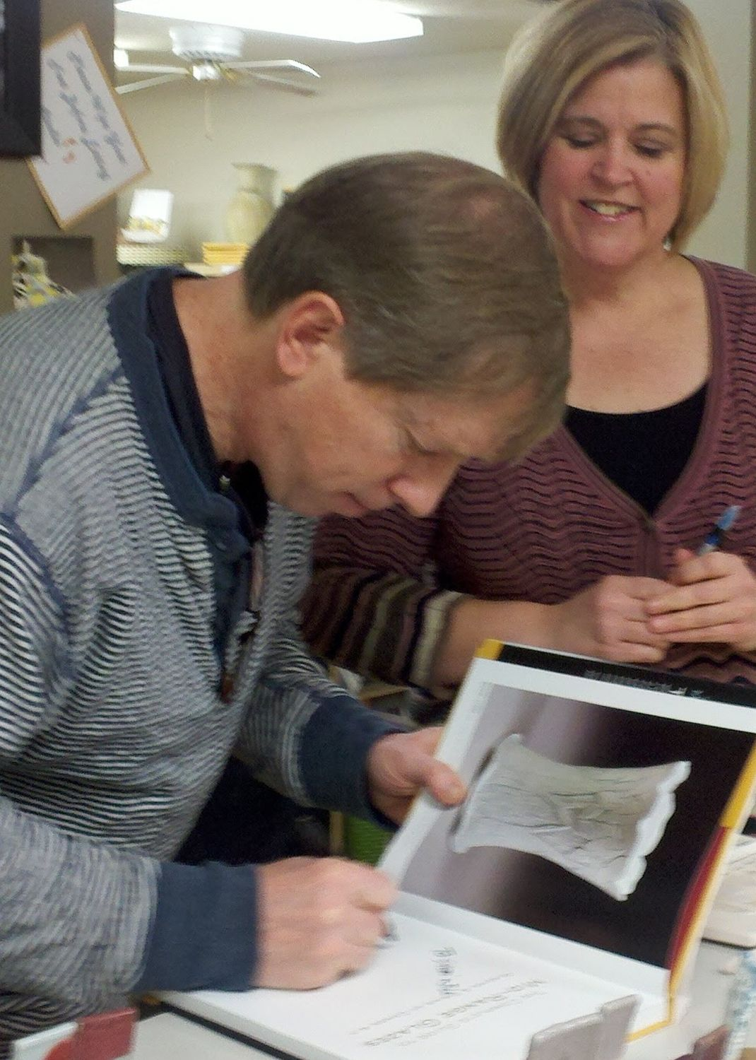 "John Britt signing ""Complete Guide to Mid-Range Glazes"""