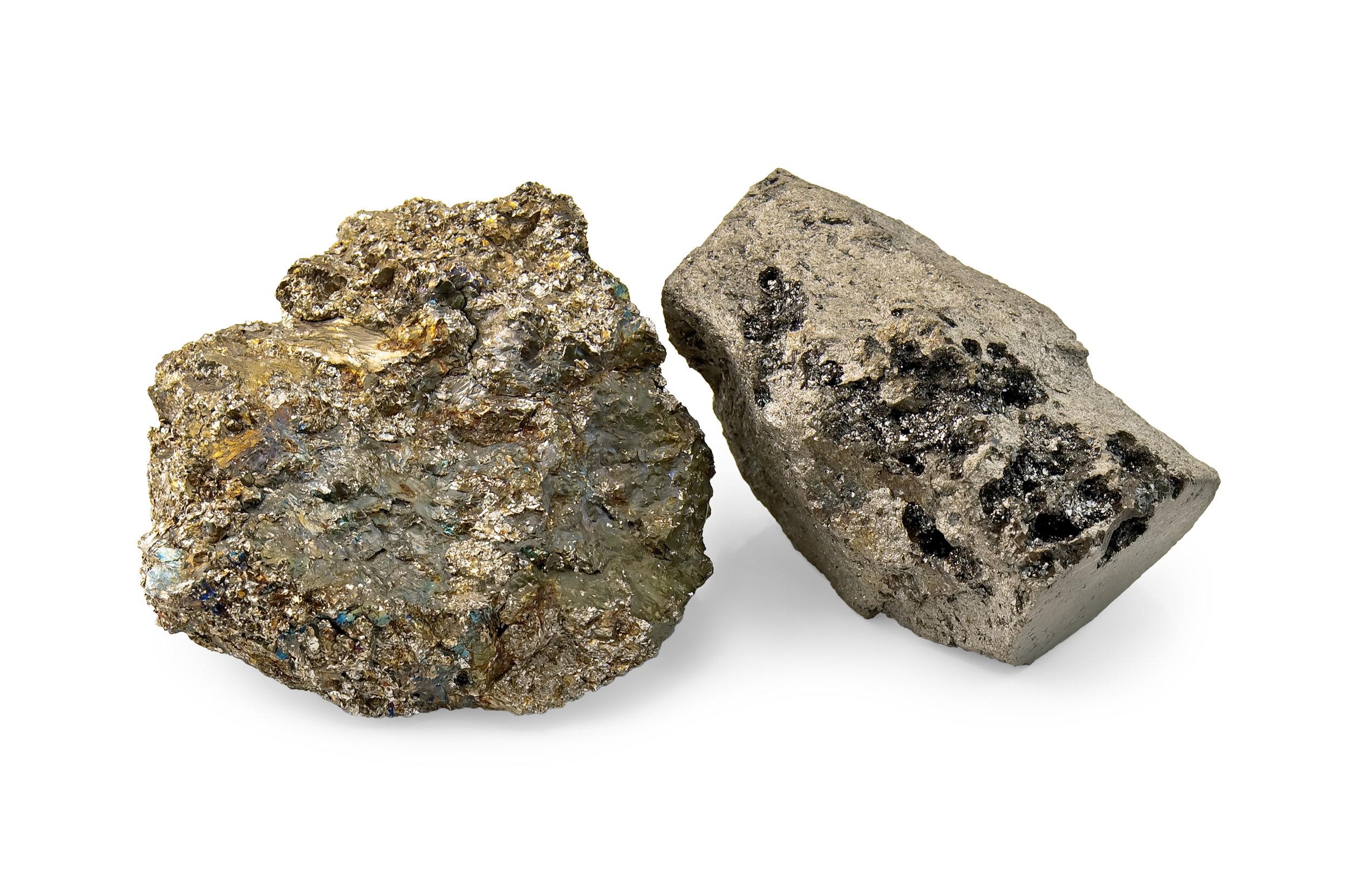 Production of ferroalloys from secondary raw materials